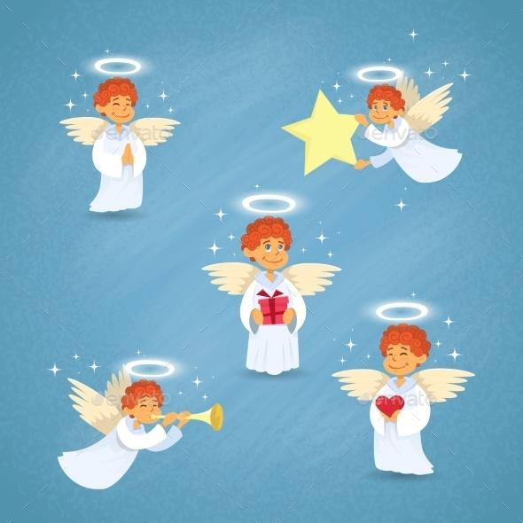 Valentine's Angel Cupid Group Saint Valentine - Valentines Seasons/Holidays