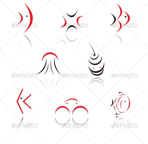 Set of animal symbols - Decorative Vectors