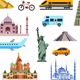 Tourism Flat Icons Set - GraphicRiver Item for Sale