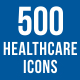 500 Healthcare Icons Bundle - GraphicRiver Item for Sale