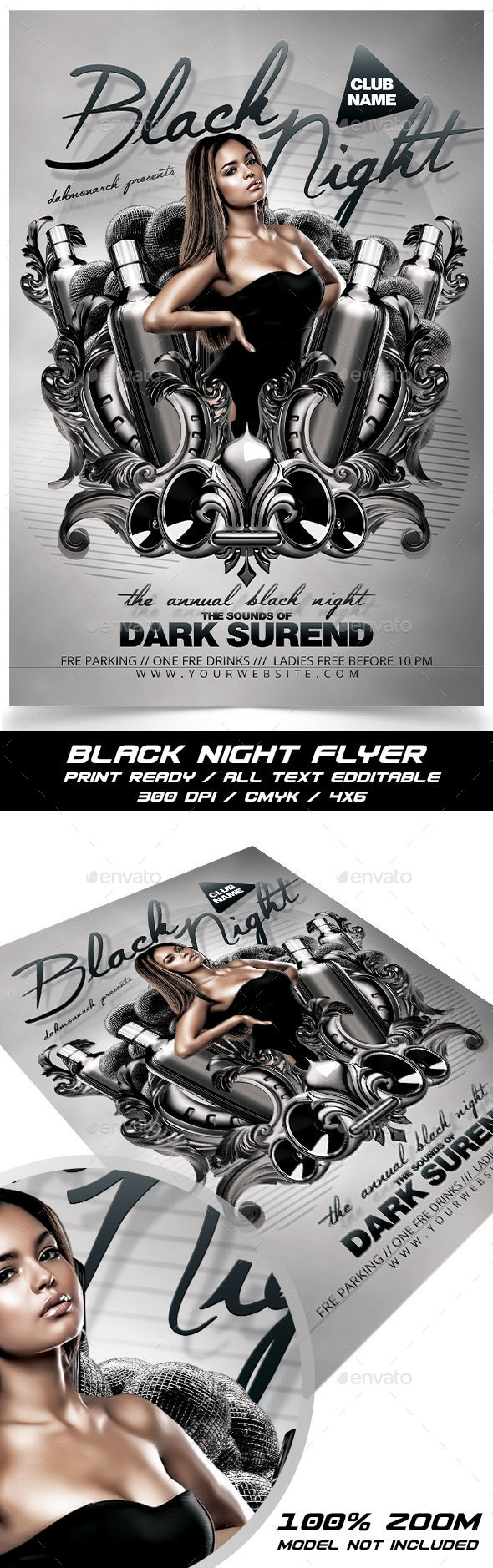 Black Night - Events Flyers