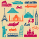 Tourism Icons Set - GraphicRiver Item for Sale