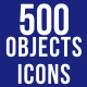 500 Objects Icons Bundle - GraphicRiver Item for Sale