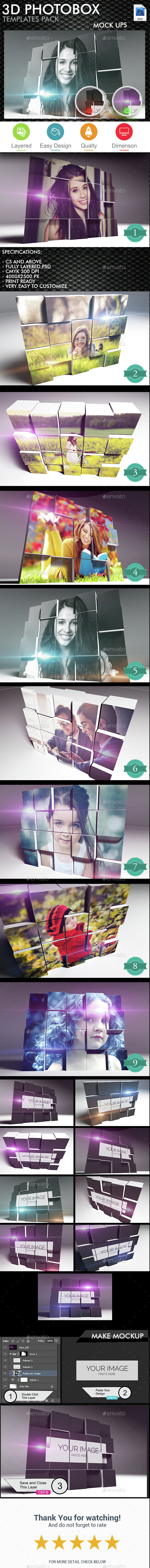 3D PhotoBox Templates - Miscellaneous Photo Templates