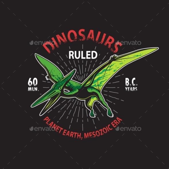 Dinosaur T-Shirt Print - Monsters Characters