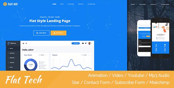 Flat Ace - Flat Style Landing Page