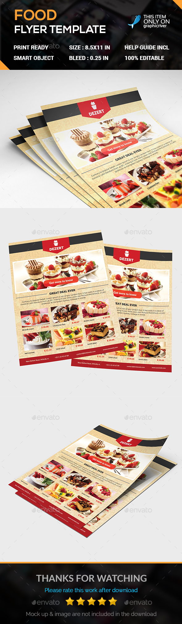 FOOD Flyer - Flyers Print Templates
