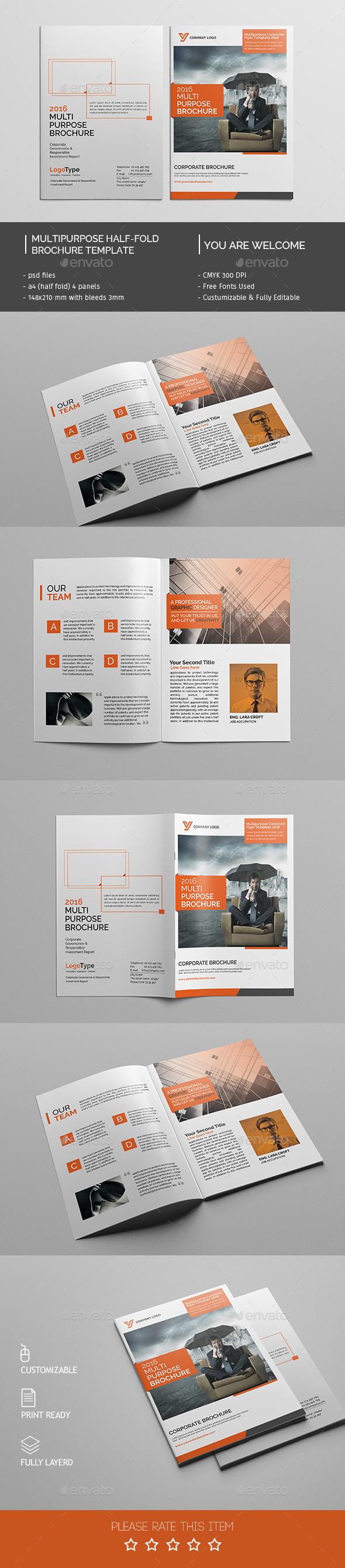 Corporate Bi-fold Brochure Template 04 - Corporate Brochures