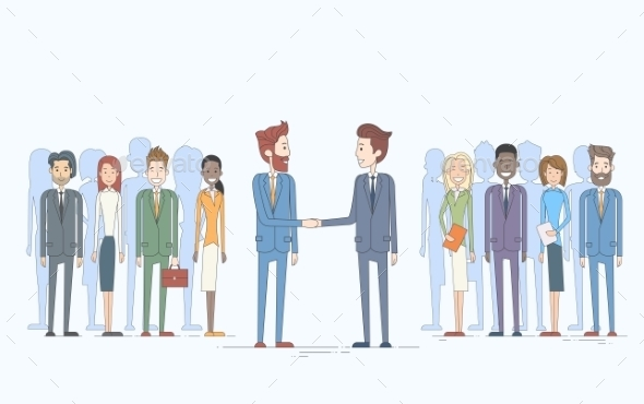 Businessman Handshake Businesspeople Team - Concepts Business