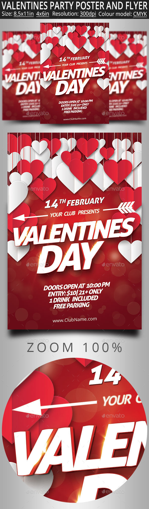 Valentines Party Poster And Flyer - Clubs & Parties Events