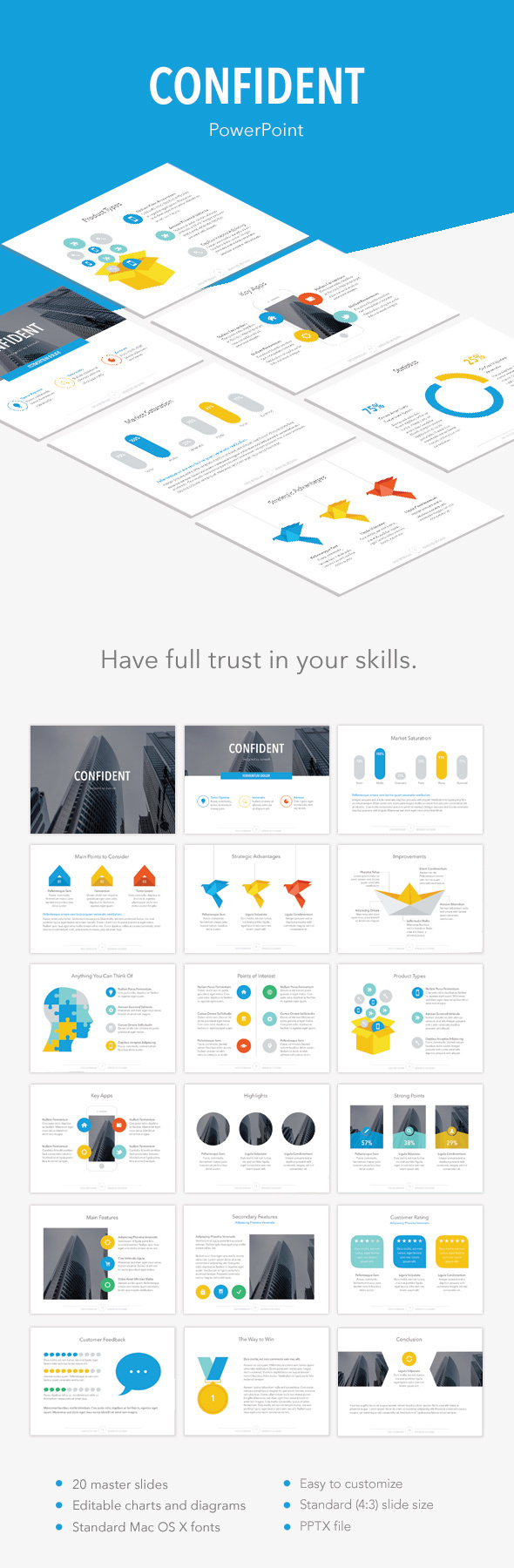 Confident PowerPoint Template - PowerPoint Templates Presentation Templates