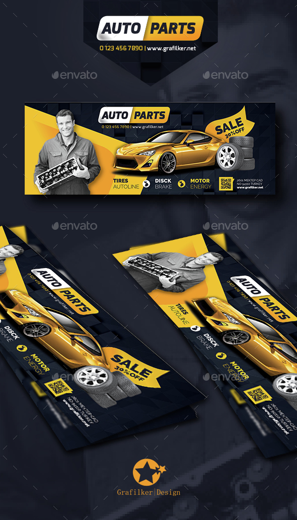 Auto Spare Parts Cover Templates - Facebook Timeline Covers Social Media