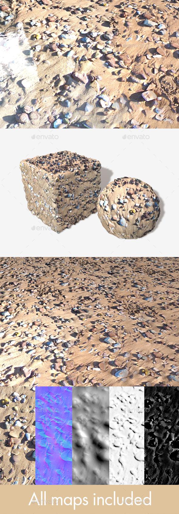 Stony Beach 01 Seamless Texture - 3DOcean Item for Sale