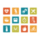 Icon set - vibrant square - Fitness - GraphicRiver Item for Sale