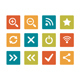 Icon set - vibrant square - Basic Web & Computer - GraphicRiver Item for Sale