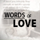 Words Of Love - VideoHive Item for Sale
