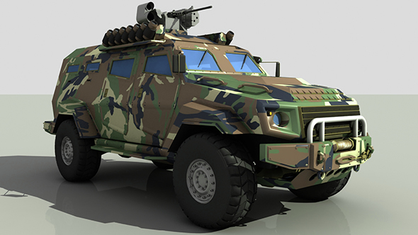 Turkish Armored Car Cobra - 3DOcean Item for Sale
