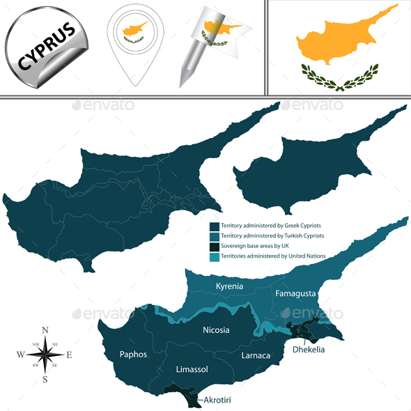 Map of Cyprus - Travel Conceptual