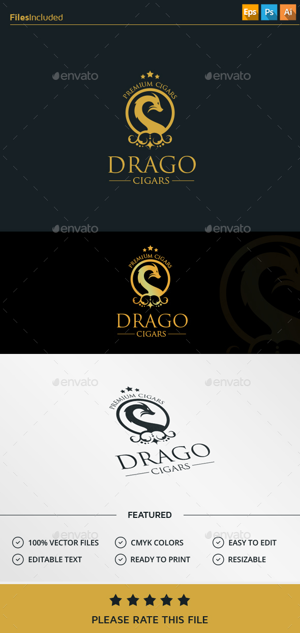 Dragon Logo - Crests Logo Templates