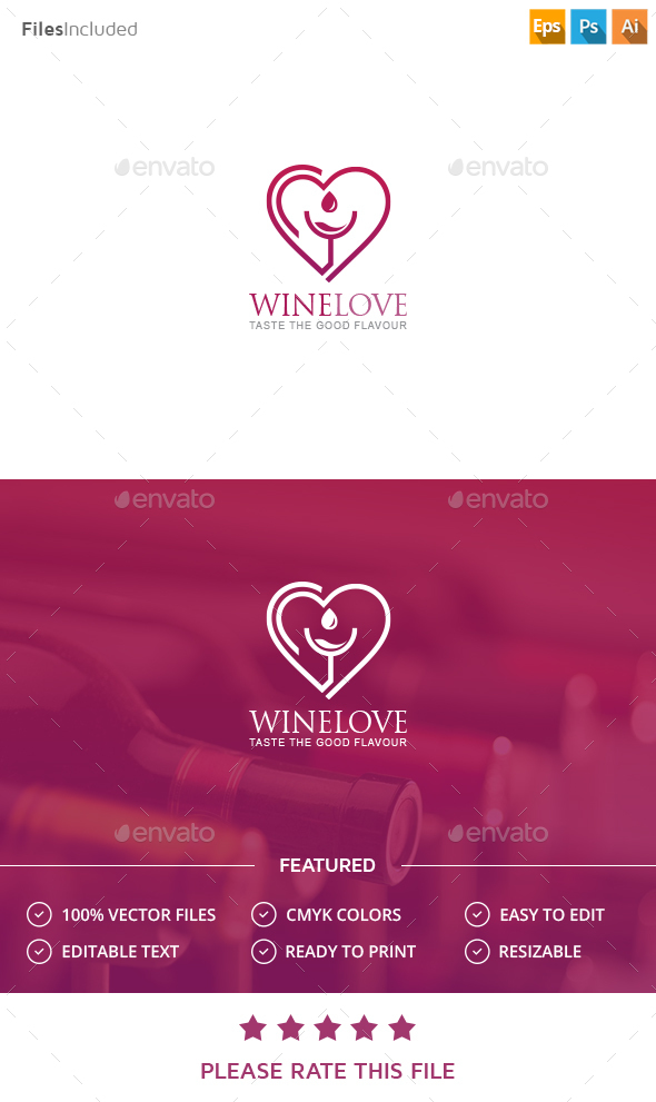 Wine Logo - Vector Abstract