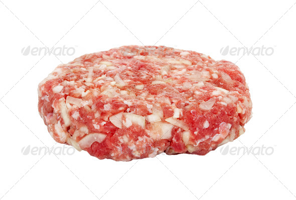 Raw hamburger - Stock Photo - Images
