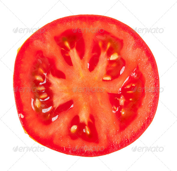 Tomato slice - Stock Photo - Images