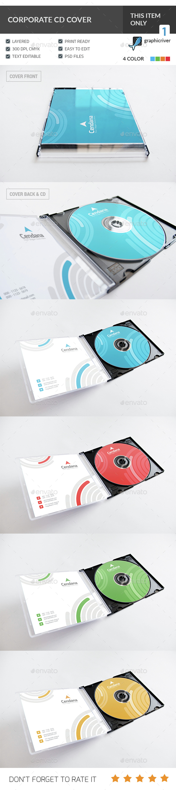 Corporate CD & DVD Cover - CD & DVD Artwork Print Templates