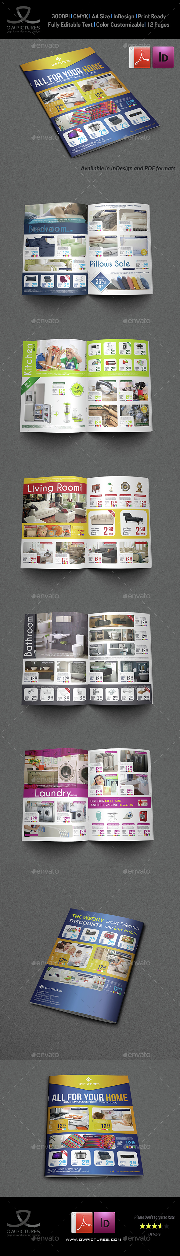 Products Catalog Brochure Template Vol3 - 12 Pages - Catalogs Brochures