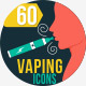 60 Vaping flat icon - GraphicRiver Item for Sale