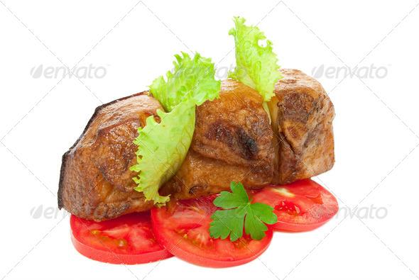 Smoked pork bacon - Stock Photo - Images
