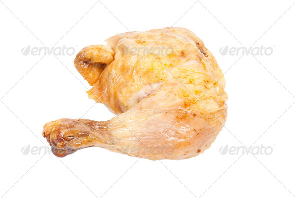 Grilled chicken leg - Stock Photo - Images