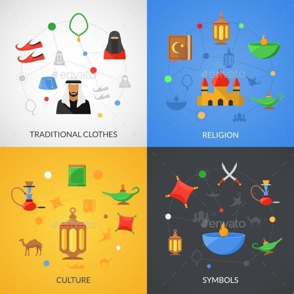 Arabic Culture Set - Abstract Conceptual