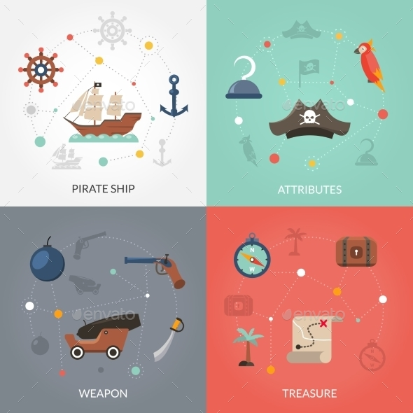 Pirate Flat Set - Abstract Conceptual