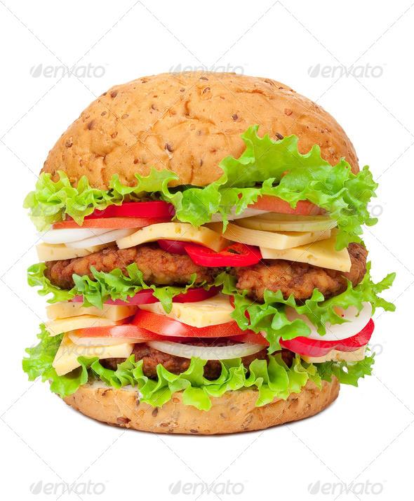 Big hamburger - Stock Photo - Images