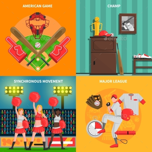 Baseball Concept Set - Abstract Conceptual