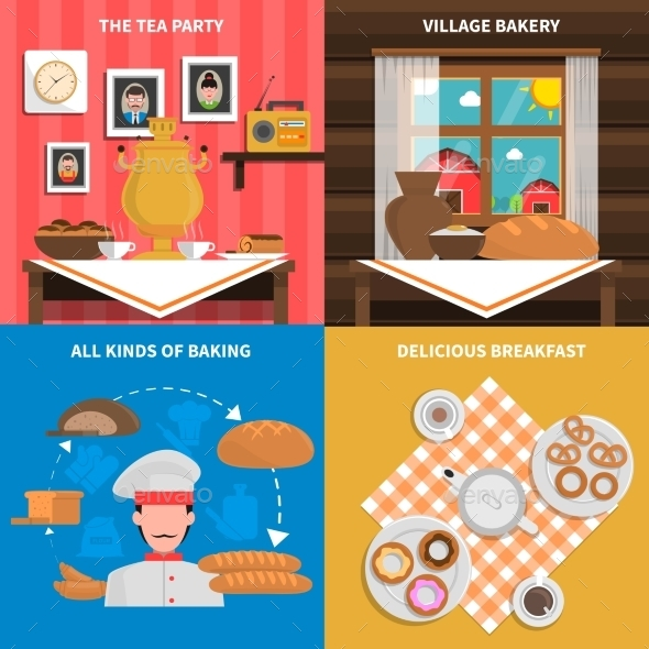 Bakery Concept Set - Food Objects