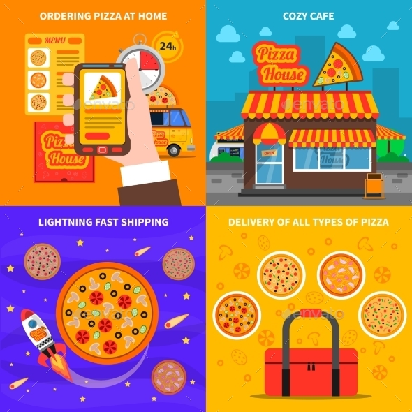 Pizza Concept Set - Food Objects