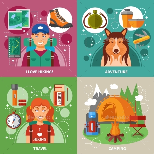 Hiking 2X2 Design Concept  - Miscellaneous Characters