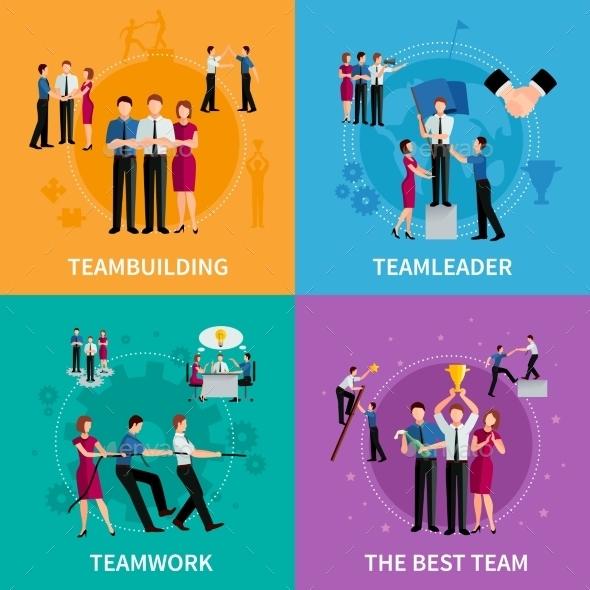Teamwork 2X2 Design Concept  - Business Conceptual