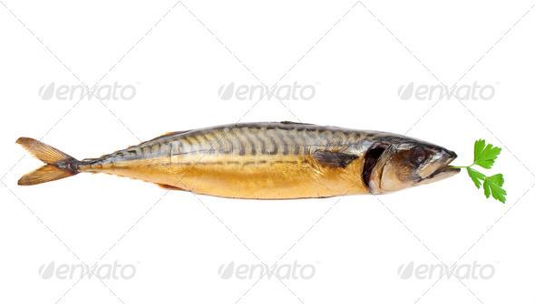 Smoked mackerel - Stock Photo - Images