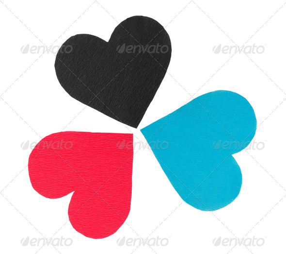 Paper hearts - Stock Photo - Images