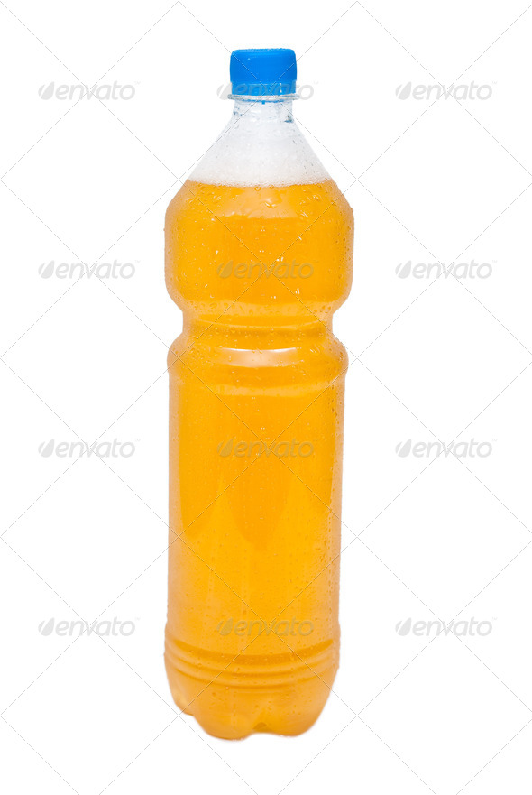 Plastic bottle of beer - Stock Photo - Images