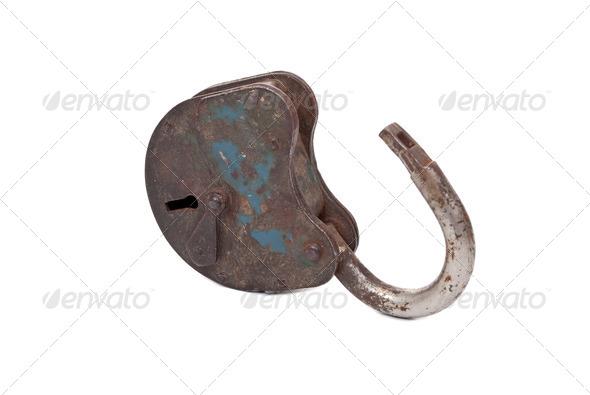 Opened lock - Stock Photo - Images