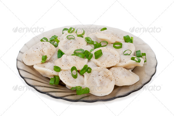 Dumplings on a plate - Stock Photo - Images