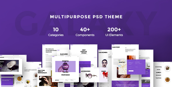 Galaxy Multipurpose PSD Theme