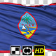 Isolated Waving National Flag of Guam - VideoHive Item for Sale