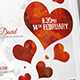 Valentines Day Special Party Inviation Flyer Poster Template - GraphicRiver Item for Sale