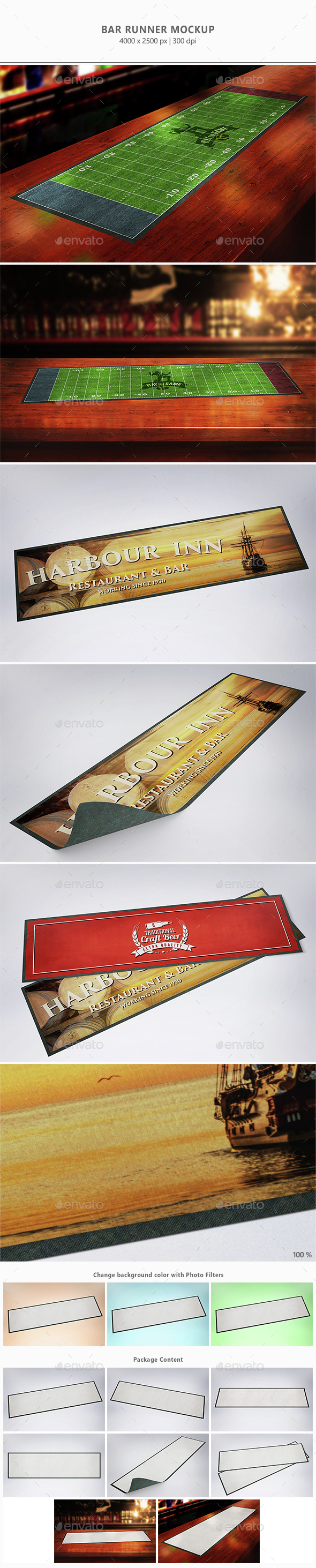 Bar Runner Mock-up - Miscellaneous Print
