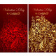 Beautiful holiday card with golden curly ornaments - GraphicRiver Item for Sale