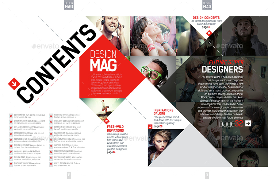 magazine template - indesign 40 page layout v7boxedcreative, Powerpoint templates